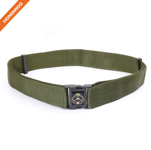 Custom Fashion Outdoor Elastic Nylon Belt Plastic Buckle