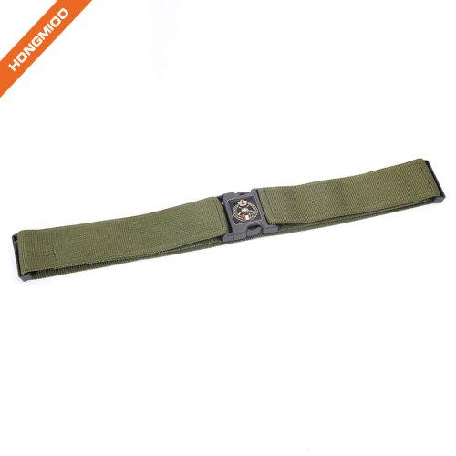 Custom Fashion Outdoor Elastic Nylon Belt Plastic Buckle