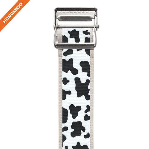 Custom Medical Fabric Metal Buckle Belts Wide Polyester Gait Belt
