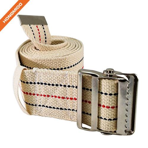 Medical Soft Nylon Transfer Fabric Gait Belt Metal Quick Release Buckle