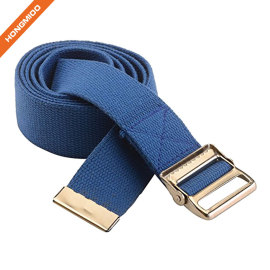First Aid Walking Gait Belt Patient Transfer With Wide Metal Buckle Blue Belt