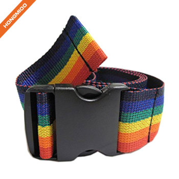 Rainbow Color Fabric Rescue Gait Belt With High Tensile Strength Plastic Buckle Infection Control Gait Belts