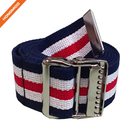 Gait Belt with Nickel Buckle Cotton Walking Belt For Hospital Patient