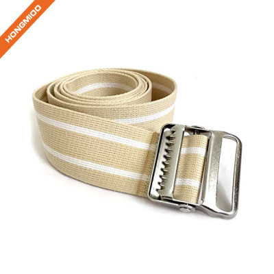 Metal Buckle Gait Belt Adjustable Machine Washable Strong and Durable Cotton Material