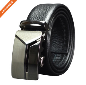 Factory Outlet Pattern Textured Buckle Automatic Men Belt
