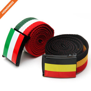 Flip-Top Buckle Multiple Color Fabric Canvas Belt For Men