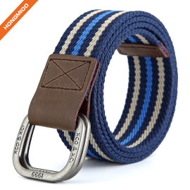Double D-Ring Men's Fabric Canvas Belt