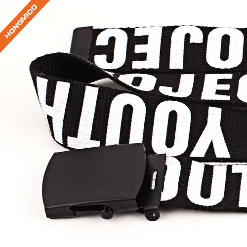 Custom Letters Fabric Canvas Belt
