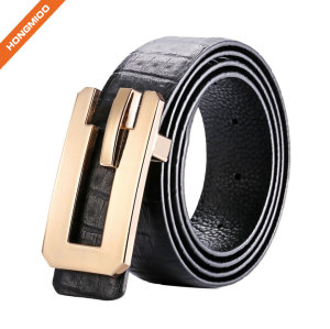 Embossed Vintage Cowhide Thick Top Grain Leather Mens Casual Jean Belt