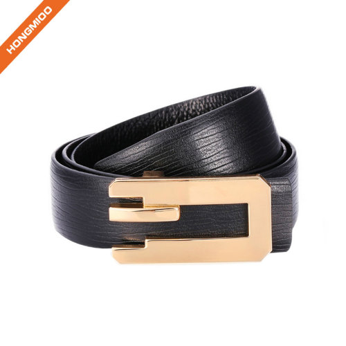 Embossed Vintage Cowhide Thick Top Grain Leather Mens Casual Jean Belt