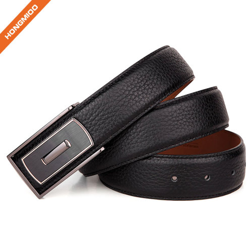 Full-Grain Leather Belts 38mm Zinc Alloy Plate Buckle Mens