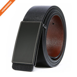 Mens Reversible Full Grain Leather Belt 35mm Rotatable Double-side Belt