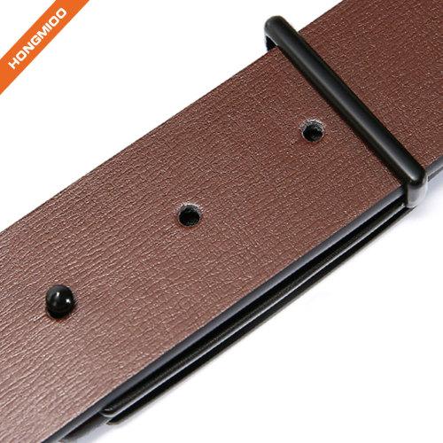 Mens Reversible Full Grain Leather Belt 35mm Rotatable Double-side Belt