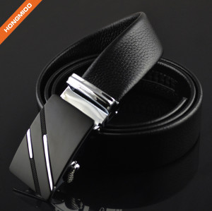 1.38'' Wide Full Grain Leather Zinc Alloy Ratchet Designer Belt
