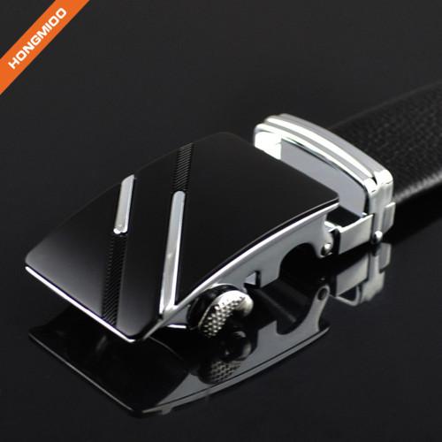1.38'' Wide Full Grain Leather Zinc Alloy Ratchet Designer Belt