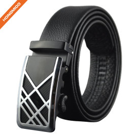 Comfort Cilp Adjustable Automatic Sliding Buckle Belts Mens With Logo