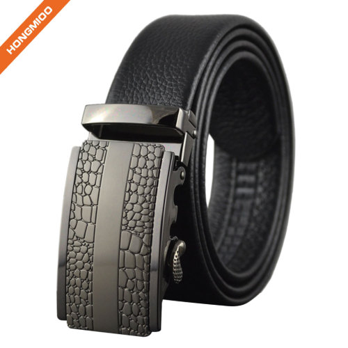 Gentleman Gift Mens Leather Ratchet Dress Belt with Automatic Buckle