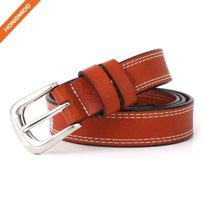 Women's Genuine Cowhide Leather Stylish Thin Dress Strap Fashion Vintage Casual Skinny Belts