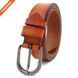Reversible Women Leather Belt Fashion Adjustable Ladies Belt 1 1/8 Inch Width Solid Pin Buckle Strap