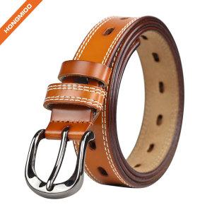 Lady Genuine Cowhide Leather Belts Apparel Belt for Women Custom Fit Buckle Waist Belt