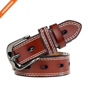 Lady Genuine Cowhide Leather Belts Apparel Belt for Women Custom Fit Buckle Waist Belt