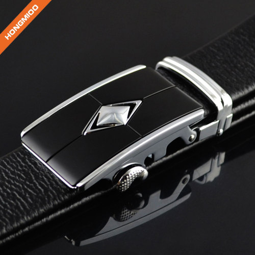 Unisex Full Grain Leather Belt With Adjustable Automatic Buckle