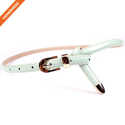 Women PU Skinny Leather Belt with Multiple Colors