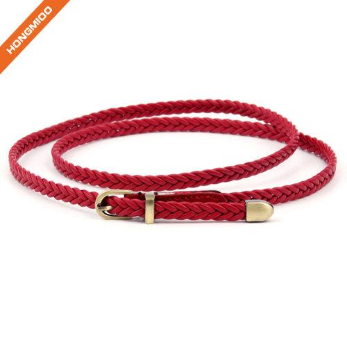 Multiple Colors Women's PU Skinny Leather Belt