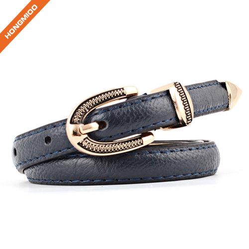 Womens Skinny Leather Belt Solid Color Simple Waist Belt for Jeans Dress Pants