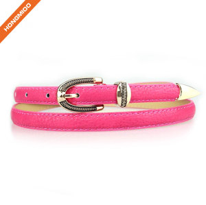 Multiple Colors Women's PU Skinny Leather Belt