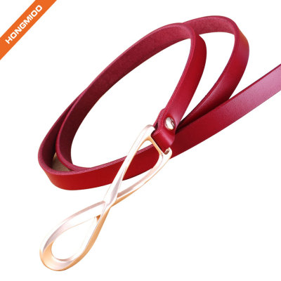 Pink Color Women's Leather Belt For Leisure Dress