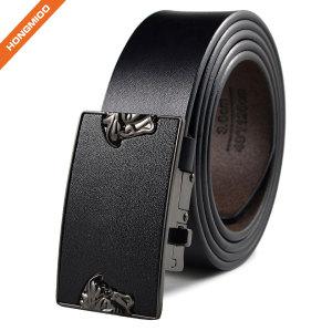 Classical Mens Plain Black Artificial Eco-Friendly Leather Belt