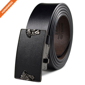 Classical Mens Plain Black Artificial Eco-Friendly Leather Belt