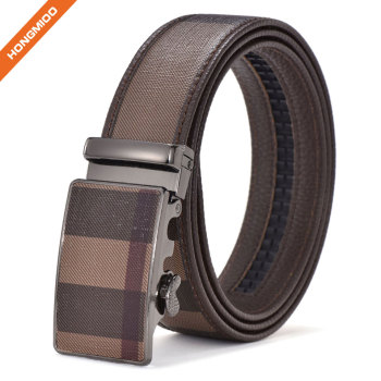 Many Colors 3.5cm Customized Artificial Man Made Leather Belt With Auto Lock Buckle
