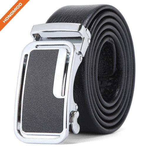 Heavy Duty Mens Ratchet Buckle Strap Artificial Leather Daily Dress Belt