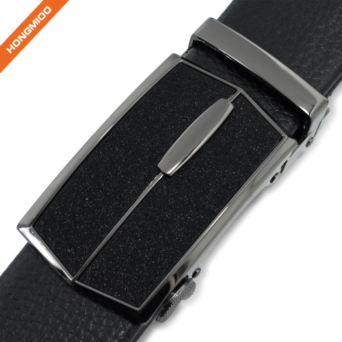 Quick Release Automatic Buckle Faux Leather Mens Daily Belt