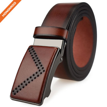 Removable Automatic Buckle Belt Men Custom Artificial Leather Waist Belt