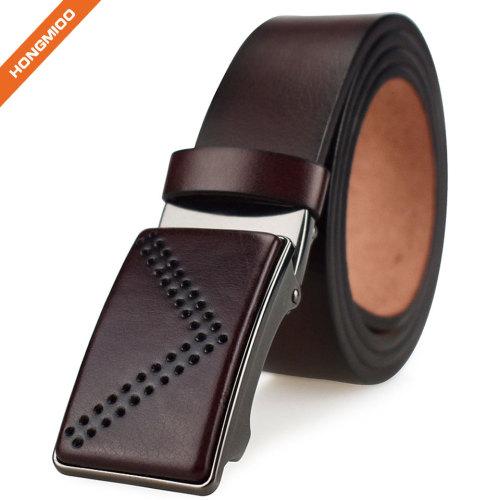 Removable Automatic Buckle Belt Men Custom Artificial Leather Waist Belt