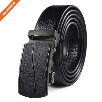 Men's Faux Leather Crocodile Striped Strap Automatic Buckles PU Belt