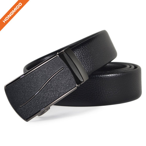 Men's Faux Leather Crocodile Striped Strap Automatic Buckles PU Belt