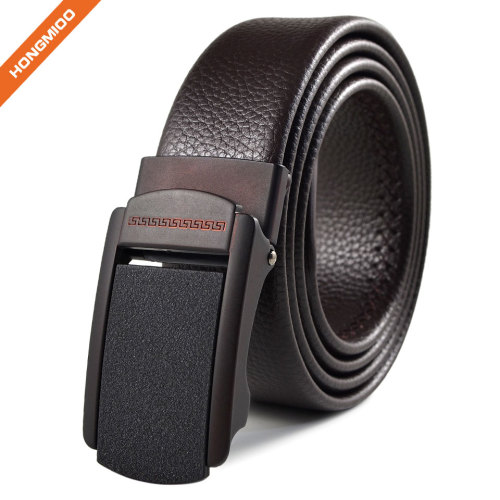 Mens Artificial Leather Ratchet Dress Belt with Automatic Buckle