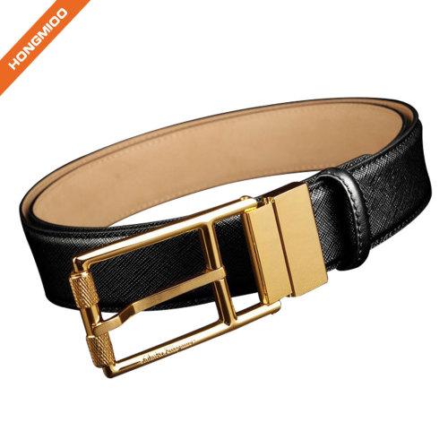 Fashion Men Shinny Brass Reversible Belt Dress