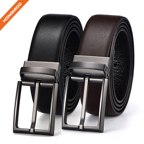 Hongmioo Leisure Black And Brown Full Grain Leather Belts
