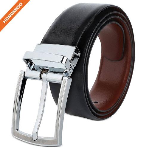 Classic Fashion Men's Top Grain Leather Reversible Belt
