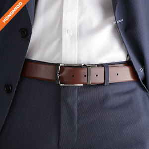 Classic Fashion Men's Top Grain Leather Reversible Belt