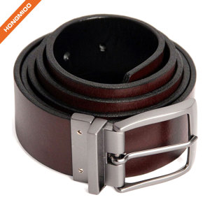Hongmioo Offer Rotated Buckle Belt For Men Reversible Leather