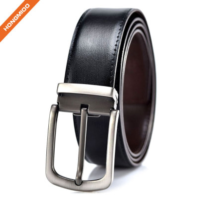 Men's Dress Reversible Classic Full Grain Leather Belt