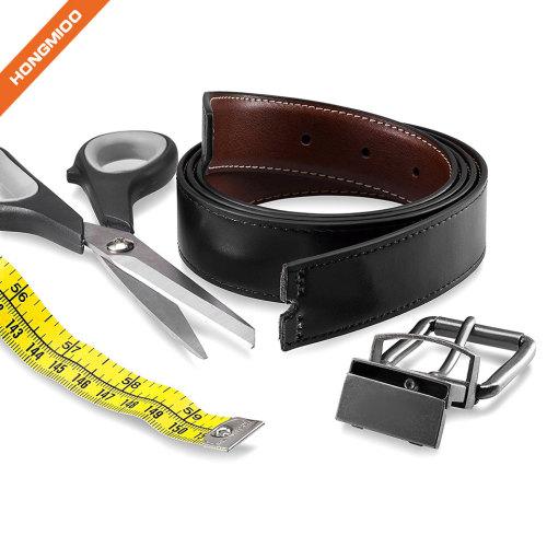 Men's Elegant Nickle Buckle Full Grain Leather Belt