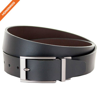 Full Grain Leather Removable Rotated Buckle Belt For Male