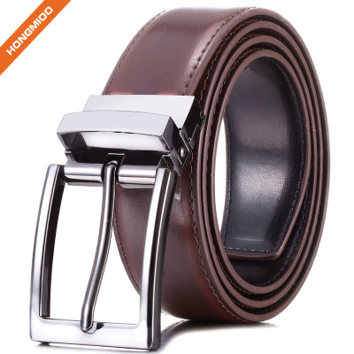 Factory Offer Classic Dress Reversible Leather Belts For Men